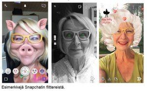 esimerkkejä snapchatin filttereistä