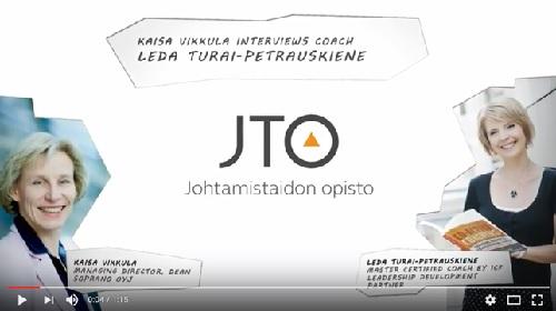 Kaisa Vikkula interviews coach Leda Turai-Petrauskiene - trainer of Certified Coach Training | Johtamistaidon opisto JTO