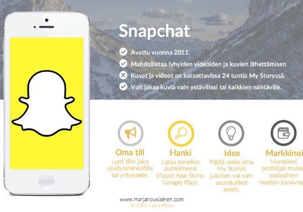 Snapchat viestintä