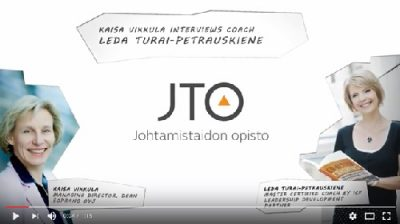 Kaisa Vikkula interviews coach Leda Turai-Petrauskiene - trainer of Certified Coach Training | Johtamistaidon opisto JTO